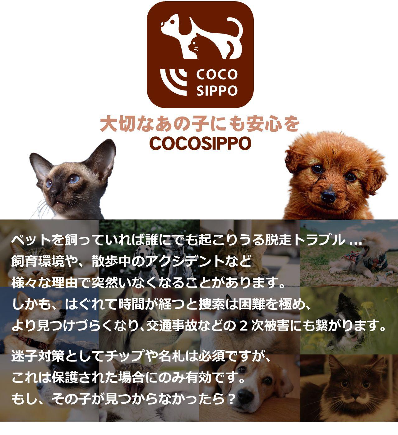 ココシッポは迷子のペットを探せるサービス