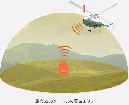 最大5000メートルの電波エリア